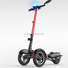 Tilting Three wheeled Electric Scooter Reverse Tricycle Dual Front Wheel Motorcycle