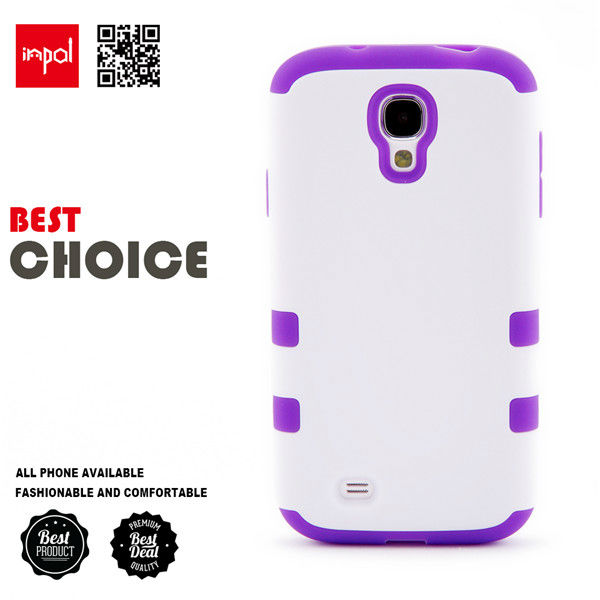 Premium hybrid shock proof silicon cell phone case for samsung S4 in matte PC hard back cover