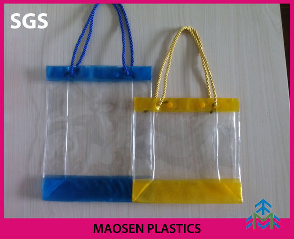 color pvc csmetic case with handle ,Hot Popular Sale plastic cosmetic bag pvc clear case