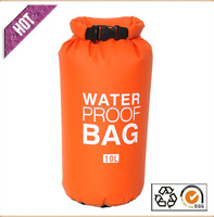 Waterproof Floating Dry Bag 10 Liter for Boating Camping and Kayaking With Shoulder Strap Keeps Clothing Electronics Protected