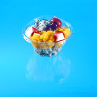 plastic salad bowl with diamond shape