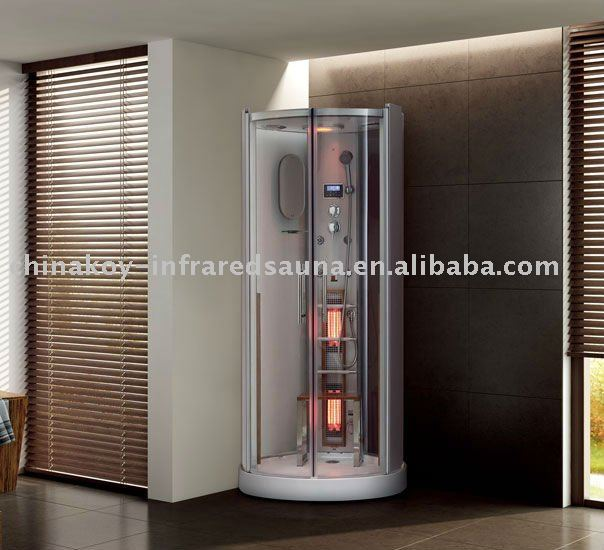 combined infrared steam shower, steam sauna bath