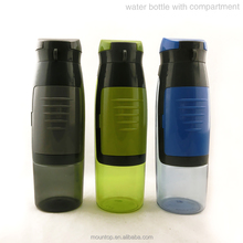 Gym fitness equipment plain water bottle sports drink plastic water bottle