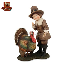 Factory custom made thanksgiving pilgrim resin Indian children figurines