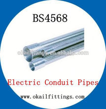 bs4568 electrical rigid metal galvanized conduit pipe for cable installation