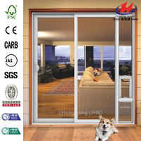 72 in. x 80 in. White Left Hand Vinyl Patio Door with Low-E Argon Glass and Small Pet Door