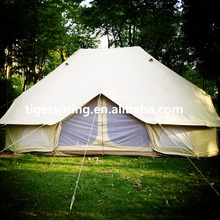 Waterproof Cotton Canvas 6x4m Emperor Bell Tent Camping Family Tent