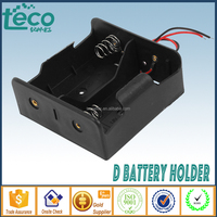 TBH-D-2A Ningbo TECO 3V 2D ABS Battery Holder with 150mm Lead Wire