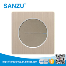 High Quality Aluminum Plate Rose Gold 1 Gang Push Button Electrical Wall Switch