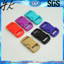Fancy plastic buckle bracelet plastic breakaway buckle for bags insert buckle