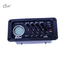 factory direct 4 band acoustic guitar pickup guitar EQ 7545T with chromatic tuner