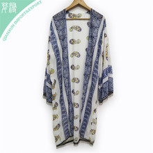 Paisley cardigan long poncho wholesale chiffon shawl