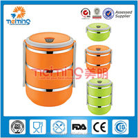 hot sale double layers stainless steel lunch box/ OEM stainless steel food container