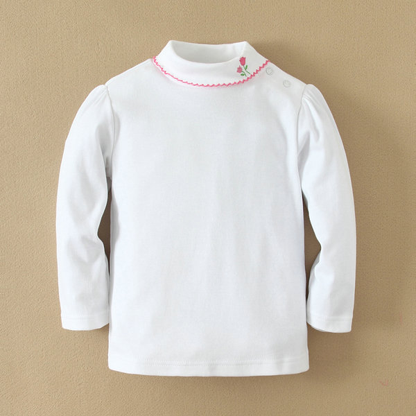 2014 100% cotton babies clothes made in China, baby girls t shirt wholesale items, white t shirt
