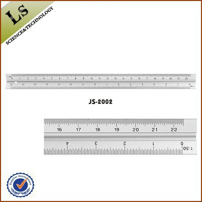 thick metal ruler 12 inch3 way aluminium triangular scale ruler in customized logo