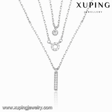 necklace-00106 Xuping diamond necklace white gold color chain necklace wedding gold necklace designs