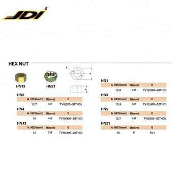 JDI-HN13 High quality Universal Hex Nuts for Car/Truck