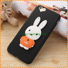 High Quality Cute Rabbit 3D Silicon Soft Mobile Phone Accessories Case for iphone7 plus