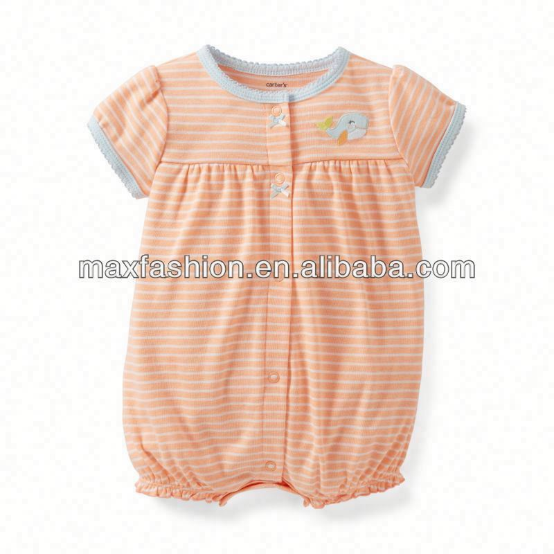 Snap-Up Creeper Or&Gy,baby clothing,Baby clothes