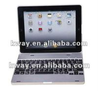 MacBook Air Style Aluminium Bluetooth Wireless Keyboard Case for iPad 2 New iPad 3 with Charging Dock KKB002