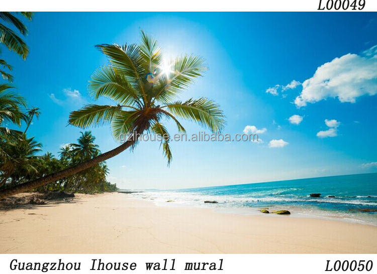 beautiful natural seascape designs glitter plastic wall