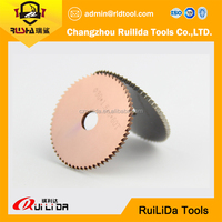 Hot pressed segmented helix blade for cutting pvc