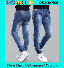 Fashion custom kids ripped jeans wholesale child jeans new pattern jeans pants
