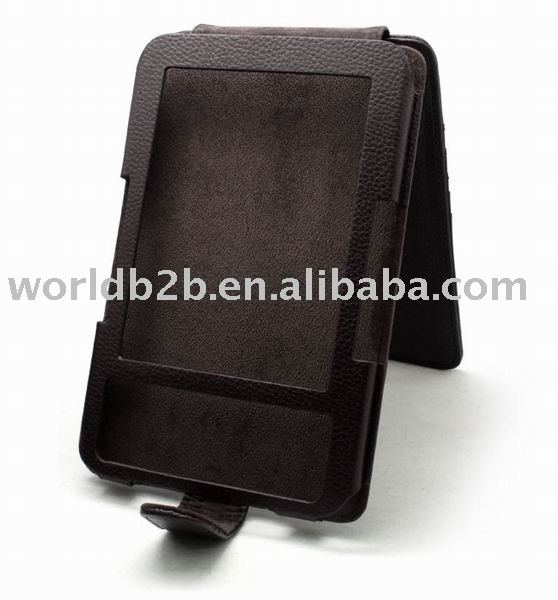 Leather Cover Case for Kindle 3 with card slot,Kindle Touch,Kindle Fire cases arrive soon