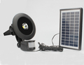 IP65 Aluminum Alloy Sensor Solar Flood Lights 10watt sensor flood light with the solar panel