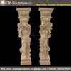 Decorative Roman marble column ,stone pillars tiles