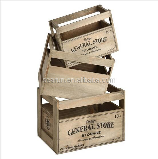 2016 Vintage cheap wooden fruit crates for sale, wooden wine crates box for sale, cheap wooden apple crates wholesale