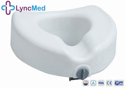 Safety Frame toilet Commode pedestal pan with Padded Raised Toilet Seat