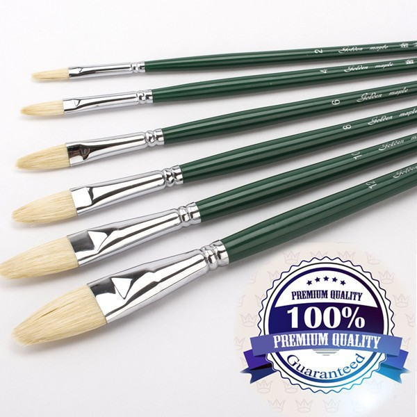 Cheap Artist Filbert oil paint brushes Wholesale Price Bristle Hair