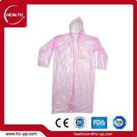Wholesale Adult Disposable plastic Raincoat Coat /Emergency bicycle rain poncho