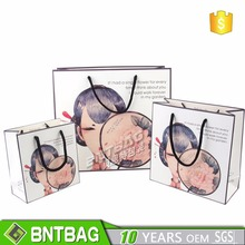 Paper Gift Bags Shopping Sales Tote Bags with woman's face