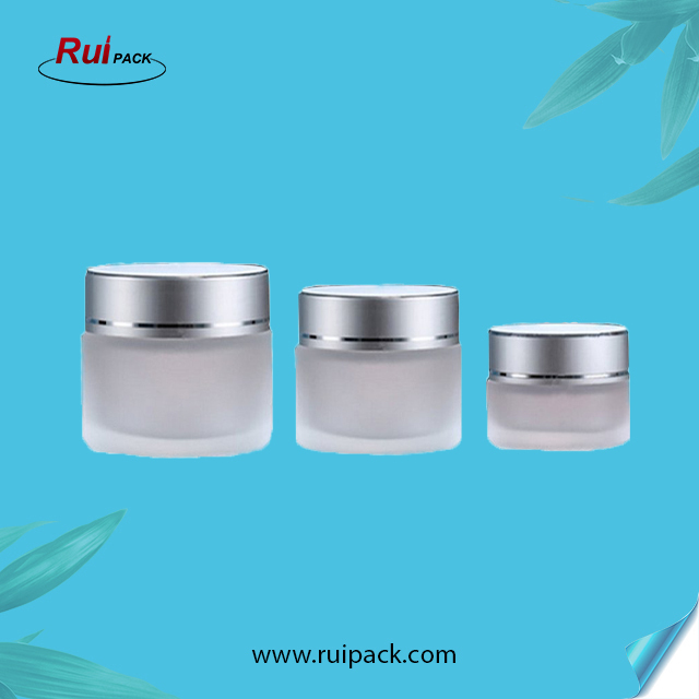 10g 20g 30g Clear Glass Cosmetic Jars Empty Face Cream Lip Balm Storage Container With White Lids