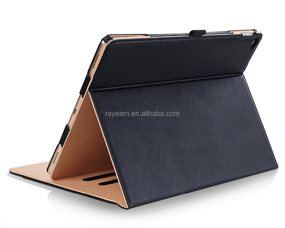 Stand Folio Case Cover with Multiple Viewing Angles&Document Card Pocket for Apple <strong>iPad</strong> Pro 9.7 Inch Case 2016