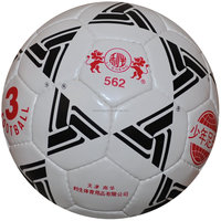 High quality of PU leather and rubber bladder soccer ball