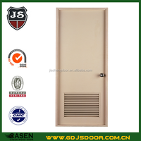 economic white color simple new design wooden flat exterior louvered door on sale