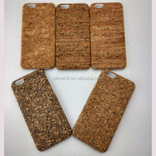 2017 hot new products cork wood phone case for Iphone 6, mobile wood phone case with laser design for IPhone 7