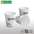 White paper coffee cup thick wall insulated wall paper cup