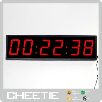 Hot 6 Digit 4 Inch Red LED Remote Digital Clock Countdown Timer in Days Hours Minutes Seconds