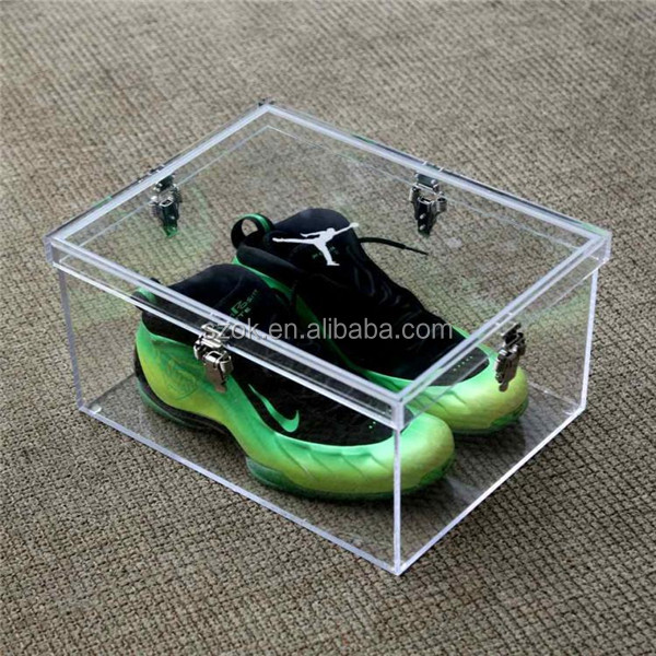 fashion online store acrylic shoe display case for adidas