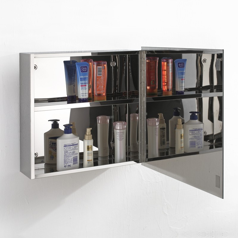 bathroom storage vanity with mirrored cabinet 7015