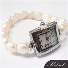Wholesale famale charm wrist natural freshwater pearl watch