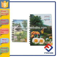 all kinds of size office supply a5 flower notebook spiral notebook for office