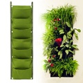 Green colour polyester fabric garden planter felt grow bag wholesale