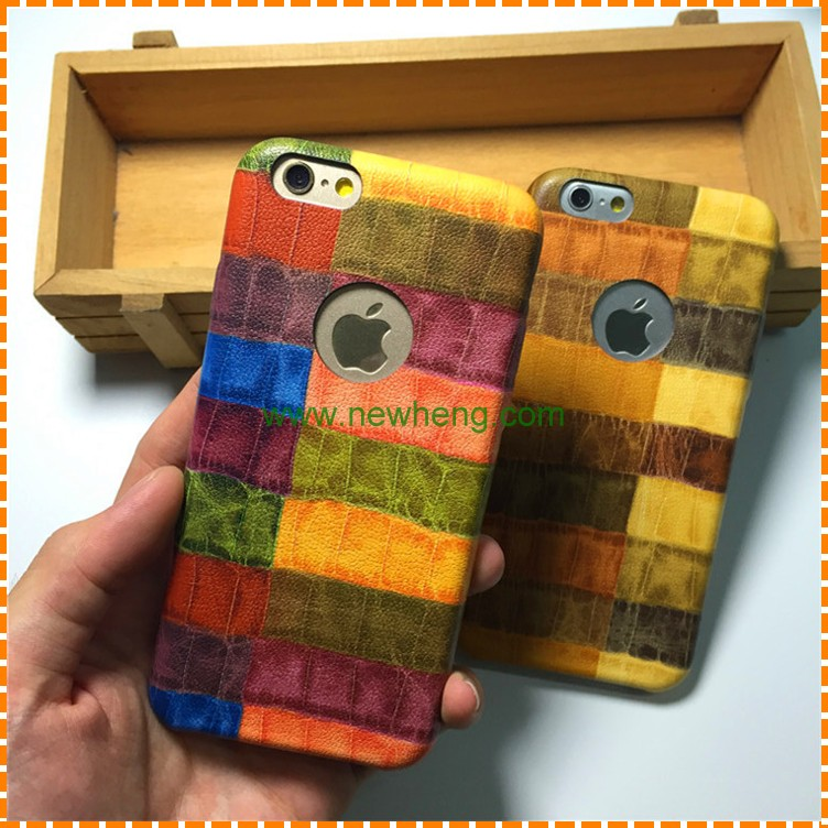 Beautiful Colorful Crocodile PU Leather Mobile Phone Case For iPhone 6 6S Plus
