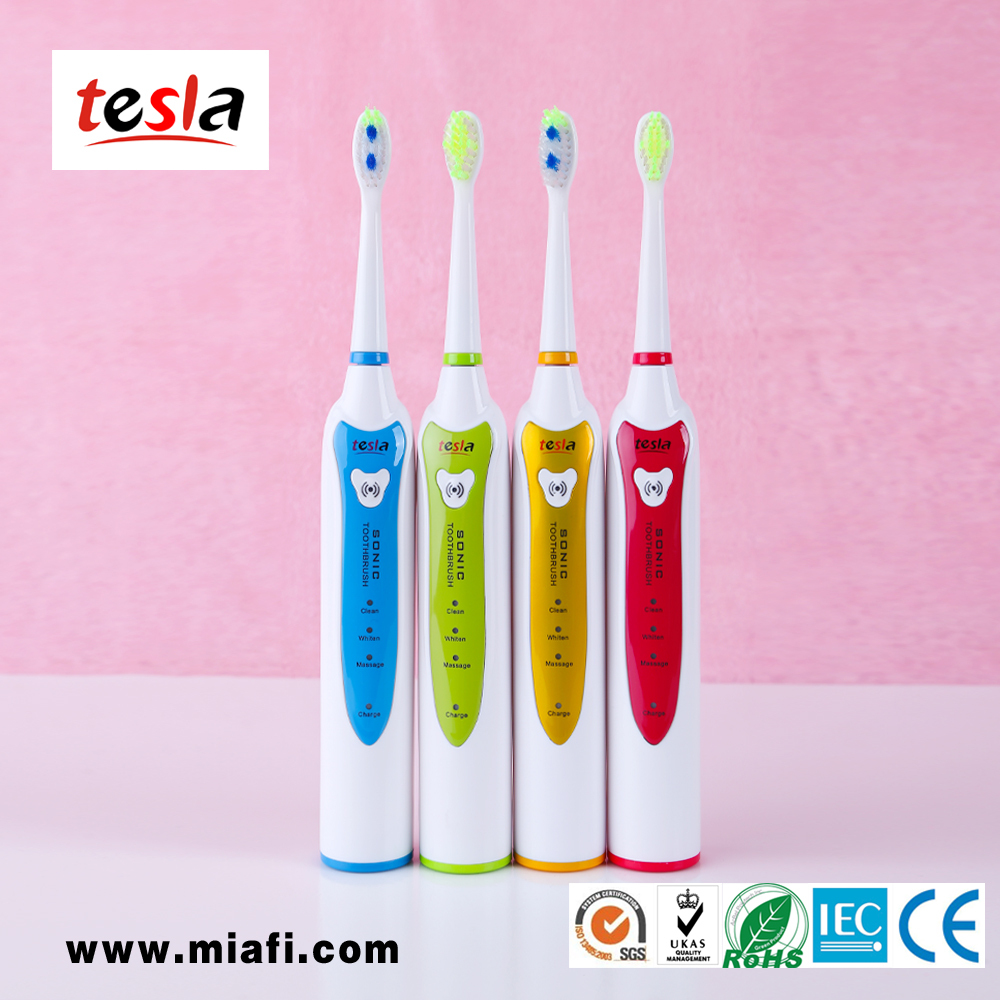 TESLA MAF8101 patent mini battery powered electric toothbrushes with adult