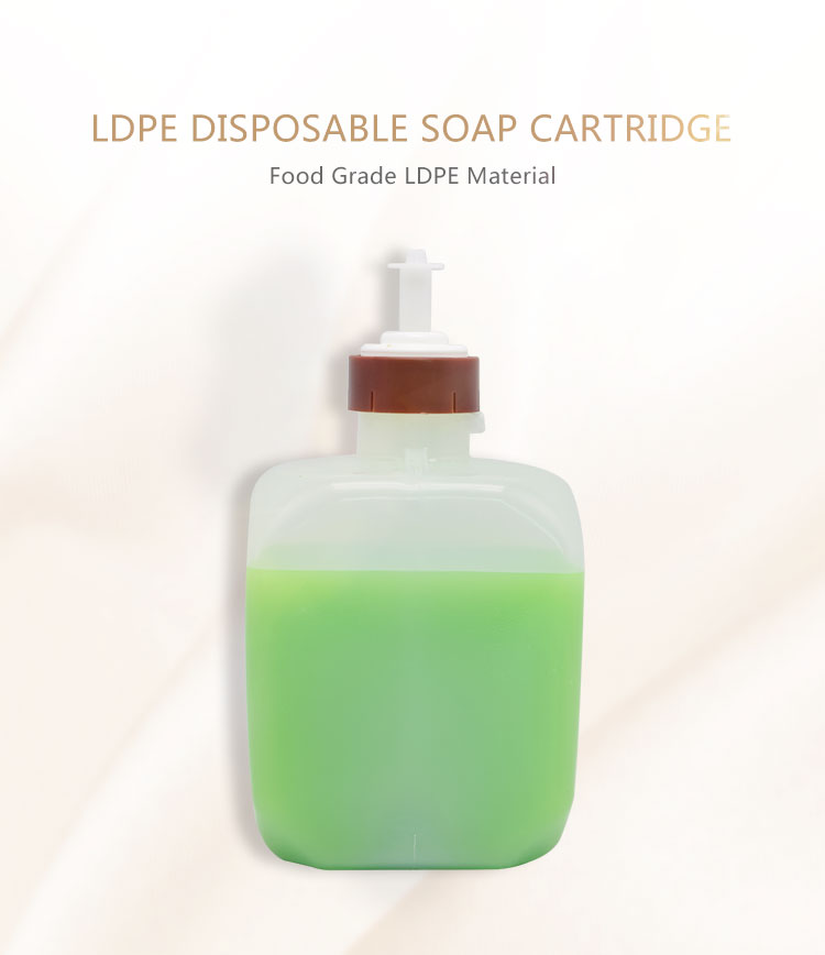 LDPE plastic 1300ml disposable liquid soap bottle